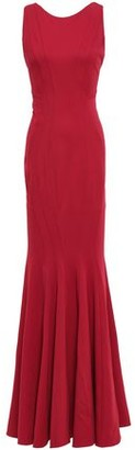 ZAC Zac Posen Open-back Stretch-crepe Gown