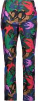Sonia Rykiel Printed cotton slim-leg pants