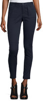 ATM Anthony Thomas Melillo Skinny Stretch Twill Moto Pants, Midnight