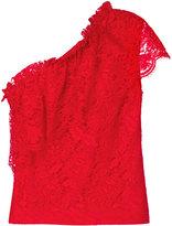 MSGM single sleeve lace blouse