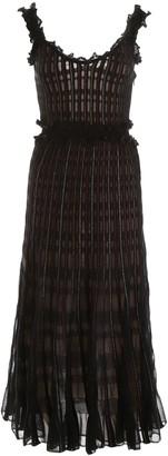 Alexander McQueen Lurex Midi Dress