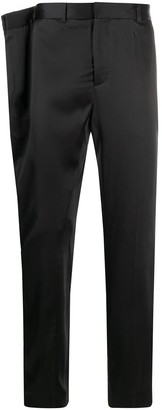 Y/Project Extended-Waistband Satin Tuxedo Trousers