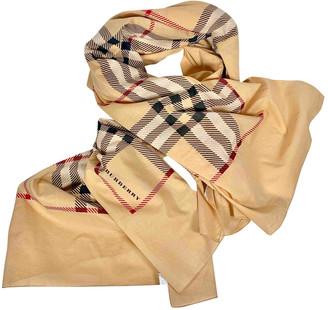 Burberry Camel Cotton Scarves