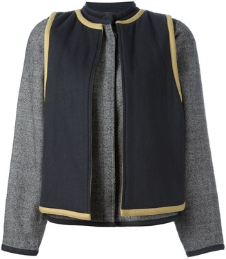 Versace Pre-Owned Contrast Layer Jacket