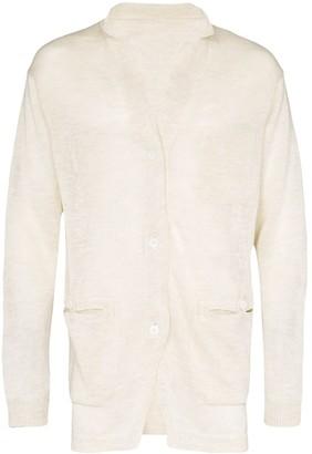 Yohji Yamamoto Button-Down Oversized Cardigan