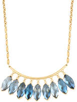 Kenneth Cole New York Blue Rays Shaky Faceted Oval Stone Frontal Necklace