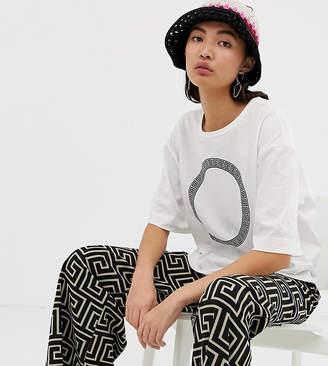 Weekday roman circle print t-shirt in white