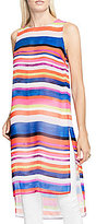 Vince Camuto Sleeveless Abstract Strokes Side Slit Tunic