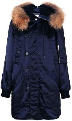 Dondup fur detail coat
