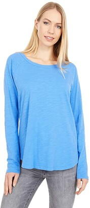 Mod-o-doc Slub Jersey Long Sleeve Raglan Tee (Cobalt) Women's Clothing