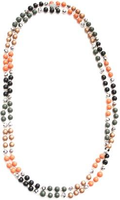 Marc Labat Gypsy 13H60-Women's Necklace-Metal-Pearl-Khaki/120 cm Champagne
