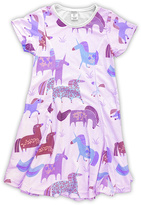 Urban Smalls Light Pink Unicorn Sublimated Swing Dress - Toddler & Girls