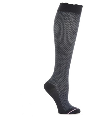 Dr. Motion Scallop Cuff Women's Mild Compression Knee Socks