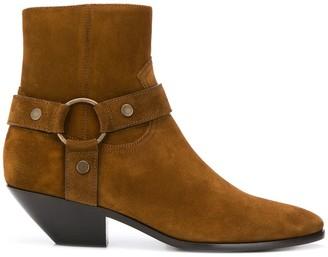 Saint Laurent Harness-Style Strap Boots