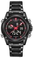 Gokelly Men's Sports Watch Stainless Steel Analog Digital Quartz Calendar Chronograph Alarm 3ATM Water Resistant 9050