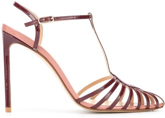 Francesco Russo High-Heeled Cut-Out Sandals
