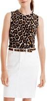 J.Crew Women's 'Jackie' Leopard Lightweight Wool Sweater Shell