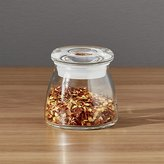 Crate & Barrel Glass Spice Jar