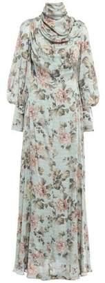 Zimmermann Draped Silk-satin Maxi Dress