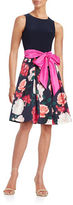 Eliza J Floral Fit-and-Flare Dress