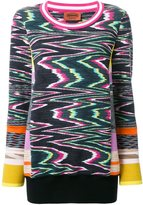 Missoni abstract intarsia jumper - women - Wool/polyester - 42