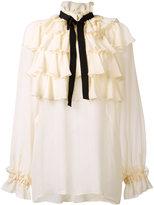 Gucci flounce long sleeve shirt - women - Silk/Cotton/Viscose - 42