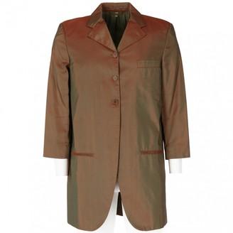 Romeo Gigli Brown Silk Jacket for Women Vintage
