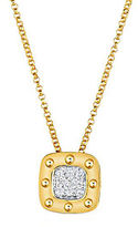 Roberto Coin Pois Mois Diamond and 18K Yellow Gold Pendant Necklace, 0.12 tcw