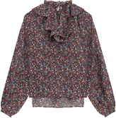 Paul & Joe Floral Print Silk Blousew Ruff