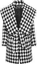 Balmain Two-tone wool coat