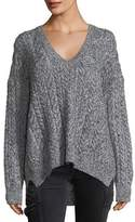 Vince Oversized Cable-Knit V-Neck Sweater