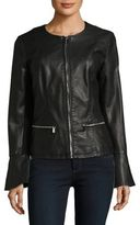Calvin Klein Bell Sleeve Faux Leather Jacket