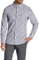 Original Penguin Long Sleeve Floral Heritage Slim Fit Shirt