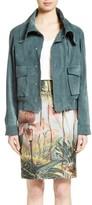 ADAM by Adam Lippes Women's Suede Moto Jacket