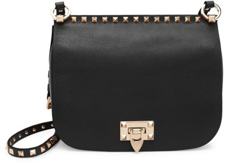 Valentino Rockstud Leather Saddle Bag