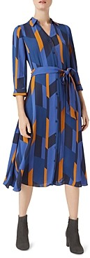 Hobbs London Dalia Geometric Print Shirt Dress