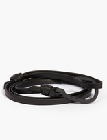 Miansai Black Leather Hook Bracelet