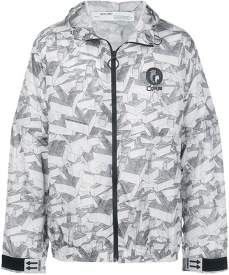 Off-White All-Over Graphic Logo Jacket