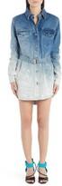 Off-White Off White Shape Degrade Long Sleeve Denim Shirtdress