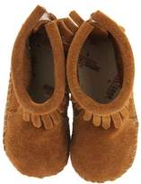 Minnetonka Kids - Suede Back Flap Bootie Kids Shoes