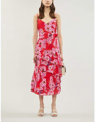 Borgo de Nor Coco floral-pattern crepe midi dress