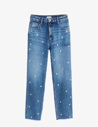 Claudie Pierlot High-rise embellished denim jeans