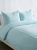 Melange Home Yarn-Dyed Seersucker Duvet Set