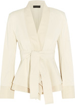 Donna Karan Belted stretch cotton-blend canvas jacket
