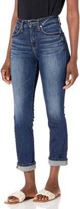 Silver Jeans Co. Women's Avery High Rise Straight Crop Jeans