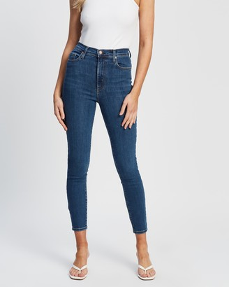 Nobody Denim Women's Blue Crop - Siren Skinny Ankle Jeans - Size 24 at The Iconic