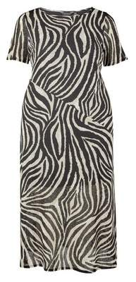 Dorothy Perkins Womens **Dp Curve Zebra Print Short Sleeve Dress