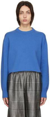 MM6 MAISON MARGIELA Blue Elbow Patch Sweater