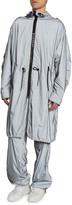 Givenchy Men's Metallic Nylon Packable Rain Parka Coat