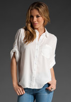 MM Couture by Miss Me Button Down Boyfriend Blouse